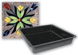 8 Square Stepping Stone Mold