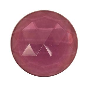 Round Amethyst 25mm Faceted Jewel