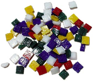 3/8 Glass Tile Carnival Mix - 1/2 Lb.