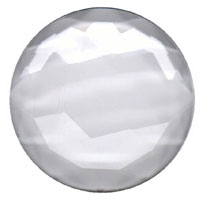 Clear Round 50mm Faceted Jewel