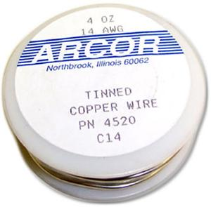 14 Gauge Pre-Tinned Wire - 4 oz