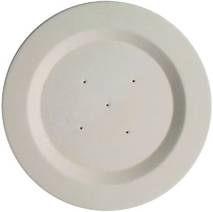 6 Round Rimmed Plate