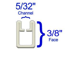 3/8 Adjustable U Zinc - 20 lbs. Box
