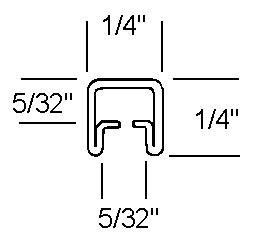 1/4 Adj U Zinc Came - 22 lb Box