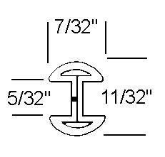 7/32 RH Zinc Came - 22 lb Box