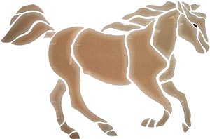 Brown Sirocco Horse Bevel Cluster