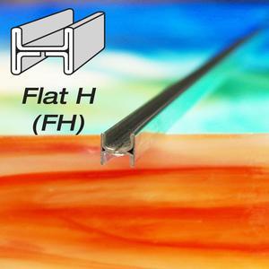 7/32 Flat H Zinc Came - Strip