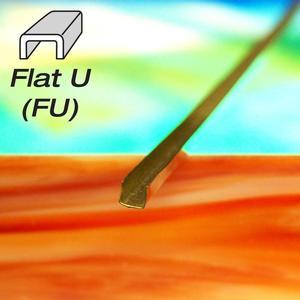 1/8 Flat U Brass - Strip