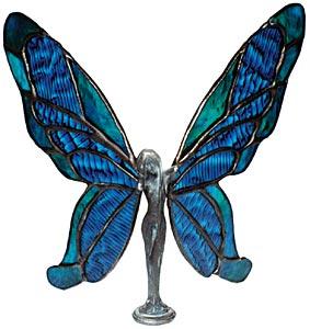 Butterfly Lady Lead Free Metal Figurine