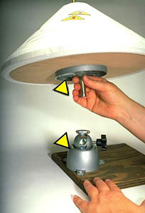 Lamp form positioner with full form attachment