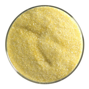 1 Lb Canary Yellow Transparent Fine Frit - 90 COE