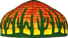24 Saguaro cactus lamp pattern