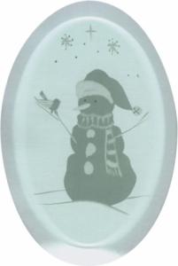 Snowman Engraved Bevel