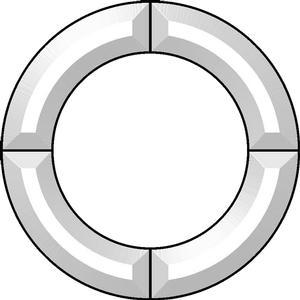 9 circle frame bevel cluster