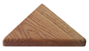 Triangle Wood Base - Oak