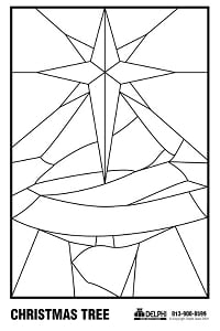Free christmas tree pattern holiday holiday for Christmas stained glass window templates