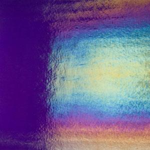 Bullseye gold purple rainbow iridized thin - 90 COE