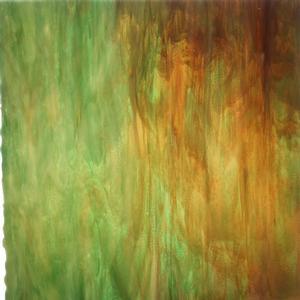 12 x 14 Oceanside Light Brown, Dark Brown and Emerald Green Streaky