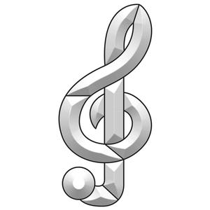 Treble Clef Bevel Cluster