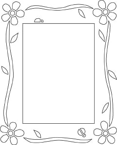 Free Flower Photo Frame Pattern