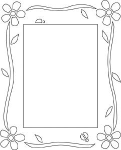Free Flower Photo Frame Pattern