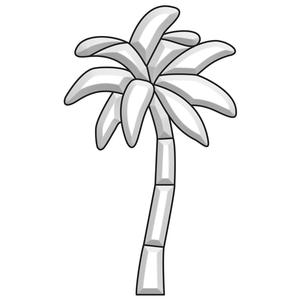 Palm Tree Bevel Cluster