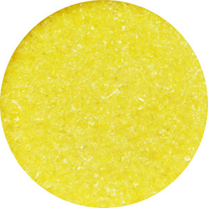 8.5 Oz Yellow Transparent Fine Frit - 96 COE