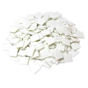 3/4 White Glass Tile - 1 Lb
