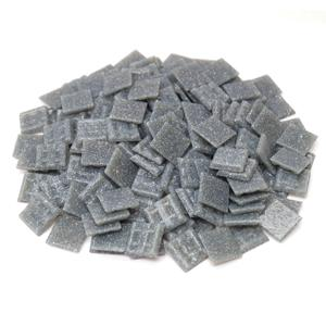 3/4 Dark Grey Glass Tile - 1 Lb