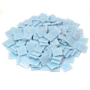 3/4 Light Mediterranean Blue Glass Tile - 1 Lb