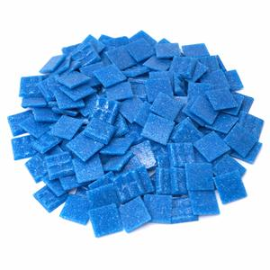 3/4 Blue Glass Tile - 1 Lb