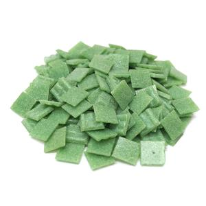 3/4 Green Glass Tile - 1 Lb