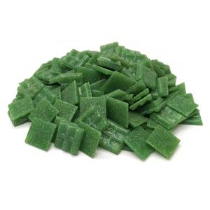 3/4 Grass Green Glass Tile - 1 Lb