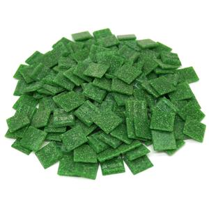 3/4 Dark Green Glass Tile - 1 Lb