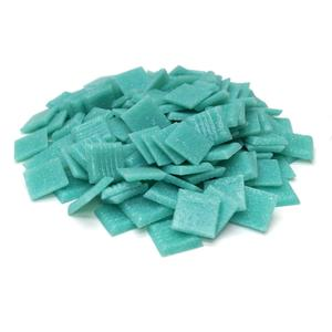 3/4 Light Teal Glass Tile - 1 Lb