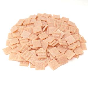 3/4 Pink Glass Tile - 1 Lb