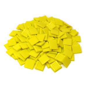 3/4 Yellow Glass Tile - 1 Lb