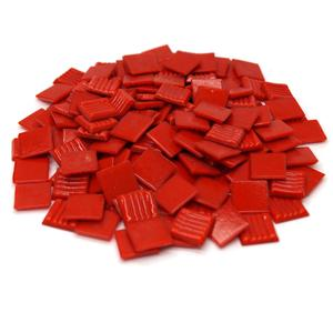 3/4 Red Glass Tile - 1 Lb