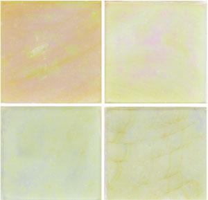 3/4 yellow iridized glass tile - 1/2 lb.