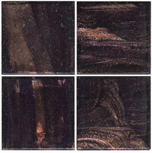 3/4 Ebony Gold Streaky Glass Tile - 1/2 Lb