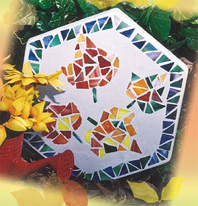 Free Fall Leaves Stepping Stone Project Instructions