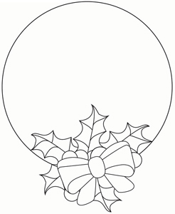 Free Holly and Ribbon Pattern