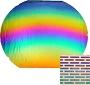 Brick Pattern Dichroic On Thin Black - 90 COE
