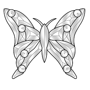 Medium Butterfly Bevel Cluster