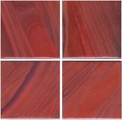 3/4 Burgundy Wispy Glass Tile - 1/2 Lb