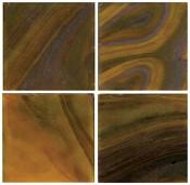 3/4 Olive Wispy Glass Tile - 1/2 Lb