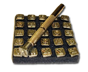 Alphabet Metal Stamping Set