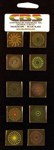 CBS Medium Kaleidoscope Pinwheels 10 Pack - 90 COE