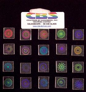 20 Small Dichroic Pinwheels - 96 COE
