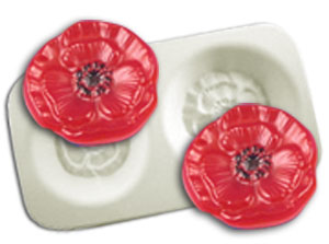 Poppy Flowers Casting Mold